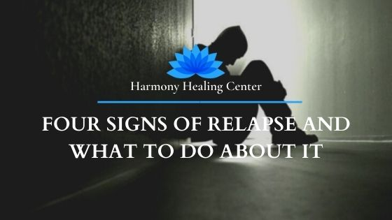 man showing signs of relapse